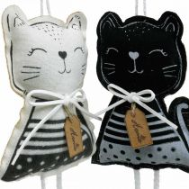 Gatos de tela para colgar, decoración primaveral, percha decorativa gato, decoración regalo 4pcs