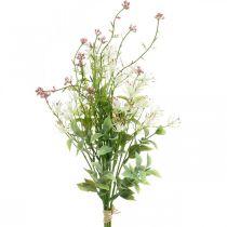 Ramo de primavera artificial rosa, blanco, verde ramo artificial H43cm
