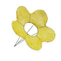 Puño de sisal amarillo Ø20cm puño flor 8pcs