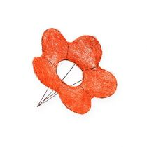 Puños de flor de sisal naranja Ø15cm 10pcs