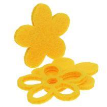 Litter-Deco Feltflower Yellow surtido 4cm 72pcs