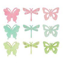 Regalar mariposas y libélulas 4cm 72pcs