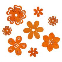 Decoración para controlar Flor de madera Naranja 2cm - 4cm 96pcs