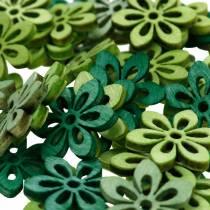 decoracíones para esparcir flor verde, verde claro, menta flores de madera para esparcir 144p