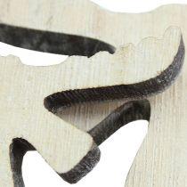 decoracíones para esparcir alce en madera blanqueado 30pcs