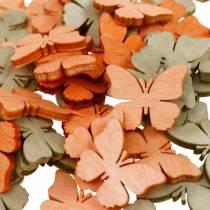 decoracíones para esparcir mariposa mariposas de madera decoración de verano naranja, albaricoque, marrón 144p