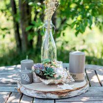 Vela pilar 130/70 vela marrón vela de cera natural sostenible decoración