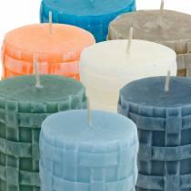Velas de columna Vela rústica 80/65 diferentes colores 2pcs