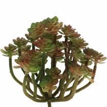 Planta suculenta artificial verde 14cm