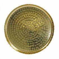 Bandeja decorativa, placa de metal oriental, decoración de mesa Ø25cm