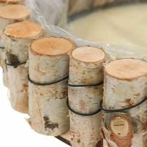 Bandeja, madera de abedul natural, redonda, Ø24cm