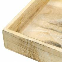 Bandeja de madera cuadrada blanqueada 30 × 30cm / 25 × 25cm juego de 2