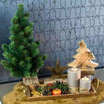 Árbol de Navidad en saco de yute 47cm