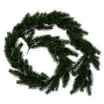 Guirnalda de abeto redonda atada verde 190cm