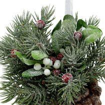 Conos de pino con decoración para colgar rojo 25cm - 32cm