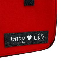 Easy Life Bag 39cm x 22cm x 25.5cm Rojo-Gris