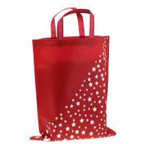 Bolsa de transporte roja con estrellas 38cm x 46cm 24pcs
