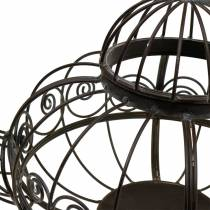 Tetera decorativa Cachete metal marrón oscuro Ø28cm H24cm