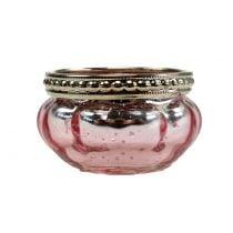 Vaso candelita rosa Ø6cm H3.5cm