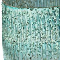 Candelita de cristal azul viento luz decoración de mesa de cristal 12cm