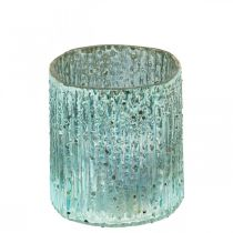 Candelita de cristal linterna azul decoración de velas de cristal 8cm