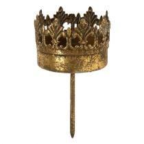 Portavelas oro antiguo Ø5cm H10cm 1p