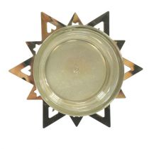 Portacandelitas estrella oro 23.5cm 4pcs