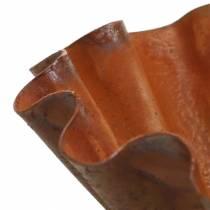 Cuenco decorativo, aspecto bandeja para hornear, rejilla de acero inoxidable Ø12,5cm H4cm