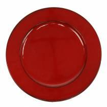 Plato deco rojo / negro Ø22cm