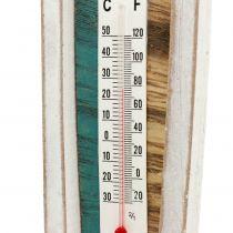 Termómetro en forma de bote de madera para colgar 46cm 1pc