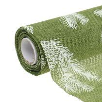 Mantel con patrón de abeto verde 20cm 5m