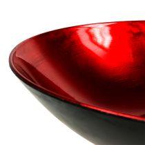 Tazón de mesa rojo Ø28cm plástico