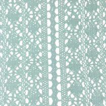 Camino de mesa Crochet encaje Verde menta 30cm x 140cm