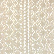 Camino de mesa encaje crochet natural 30cm x 140cm