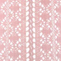 Camino de mesa crochet encaje rosa 30cm x 140cm
