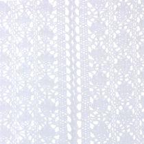 Camino de mesa Crochet encaje blanco 30cm x 140cm