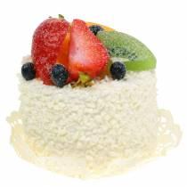 Tartaleta decorativa con frutas fresa simulada comida 7cm