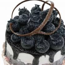 Réplica decorativa cupcake blueberry food 7cm