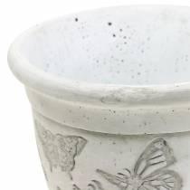 Jardinera maceta con mariposas Ø12,5cm H13cm 2pcs