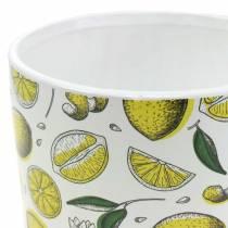 Jardinera Amarillo Limón Ø8 / 10 / 13cm, juego de 3