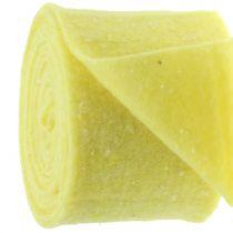 Cinta de fieltro Potband amarilla con puntos 15cm x 5m