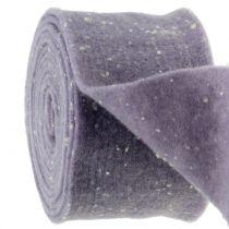 Cinta de fieltro Potband púrpura con puntos 15cm x 5m