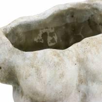 Macetero torso macho gris 19 × 13,5cm H28cm