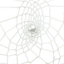 Atrapasueños corazón blanco 55cm 2pcs