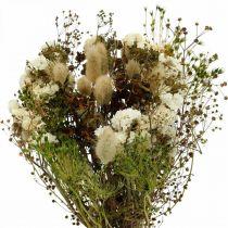 Ramo de flores secas con pastos blancos, verdes, marrones 125g flores secas