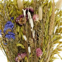 Ramo de flores secas rosa natural 45cm