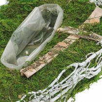 Jardinera gota musgo, vid floristería conmemorativa 40x20cm