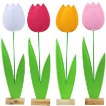 Tulipán flor de fieltro Diferentes colores Al88cm
