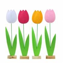 Flor de fieltro tulipán Al68cm Diferentes colores