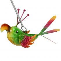 Pájaro para colgar verde, rosa, naranja 18,5cm.